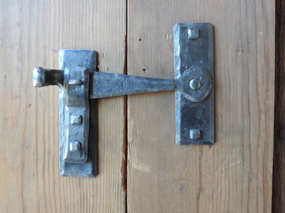 Custom Hand Forged Iron Door Hardware, Strapping, Latches, Hinges, Pintels