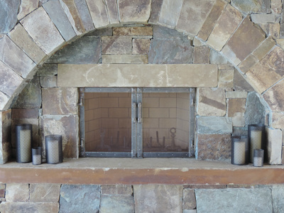 Hand forged iron fireplace screens mantels Crazy Mountain