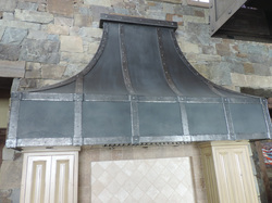 Hammered Steel Range Hood